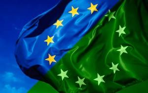 EU vlag half groen