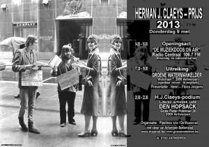 Herman J Claeys prijs 2013