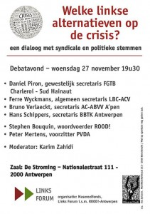 Debat linkse alt vr crisis
