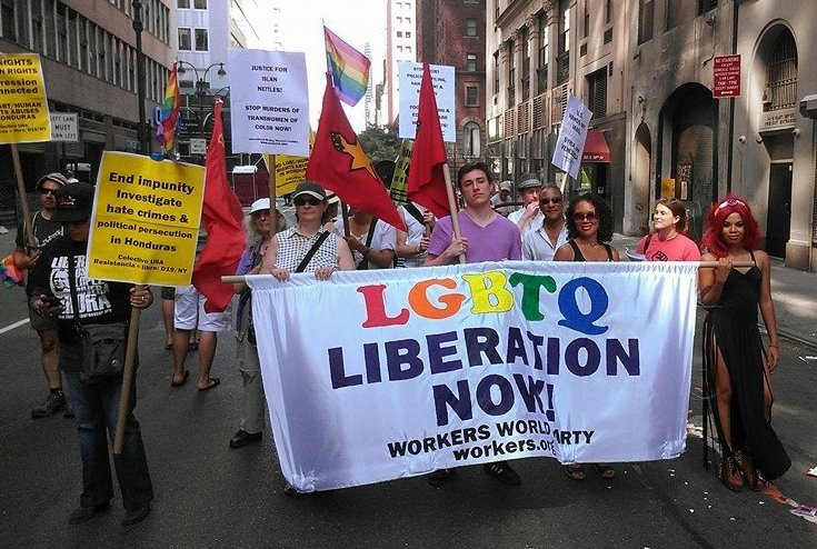 LGBTQ allied with the reactionary Stalinist Workers World Party.