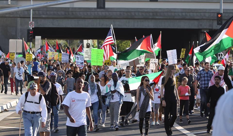 Palestinian solidarity rally